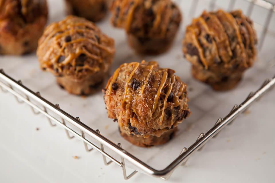 pain perdu (croissant, chocolatine, pépites de chocolat et caramel)