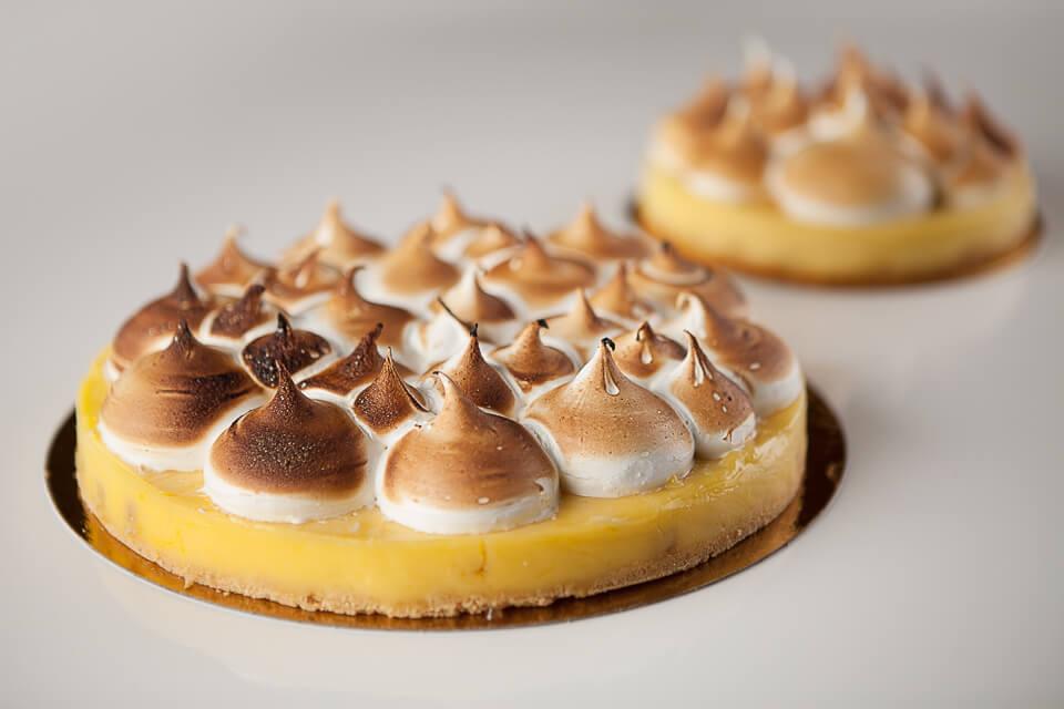 tartes au citron, gingembre confit et meringue (4-6 portions)